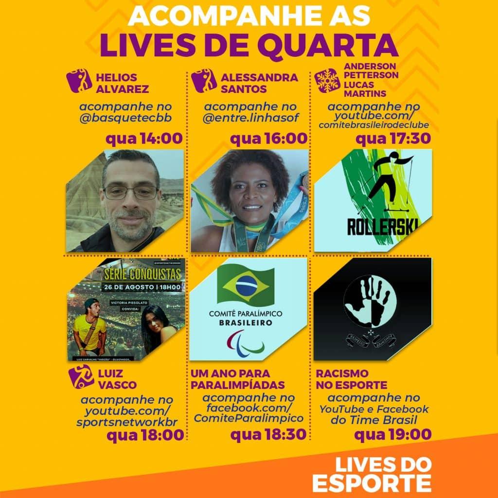Agenda de lives - Quarta, 26 de agosto