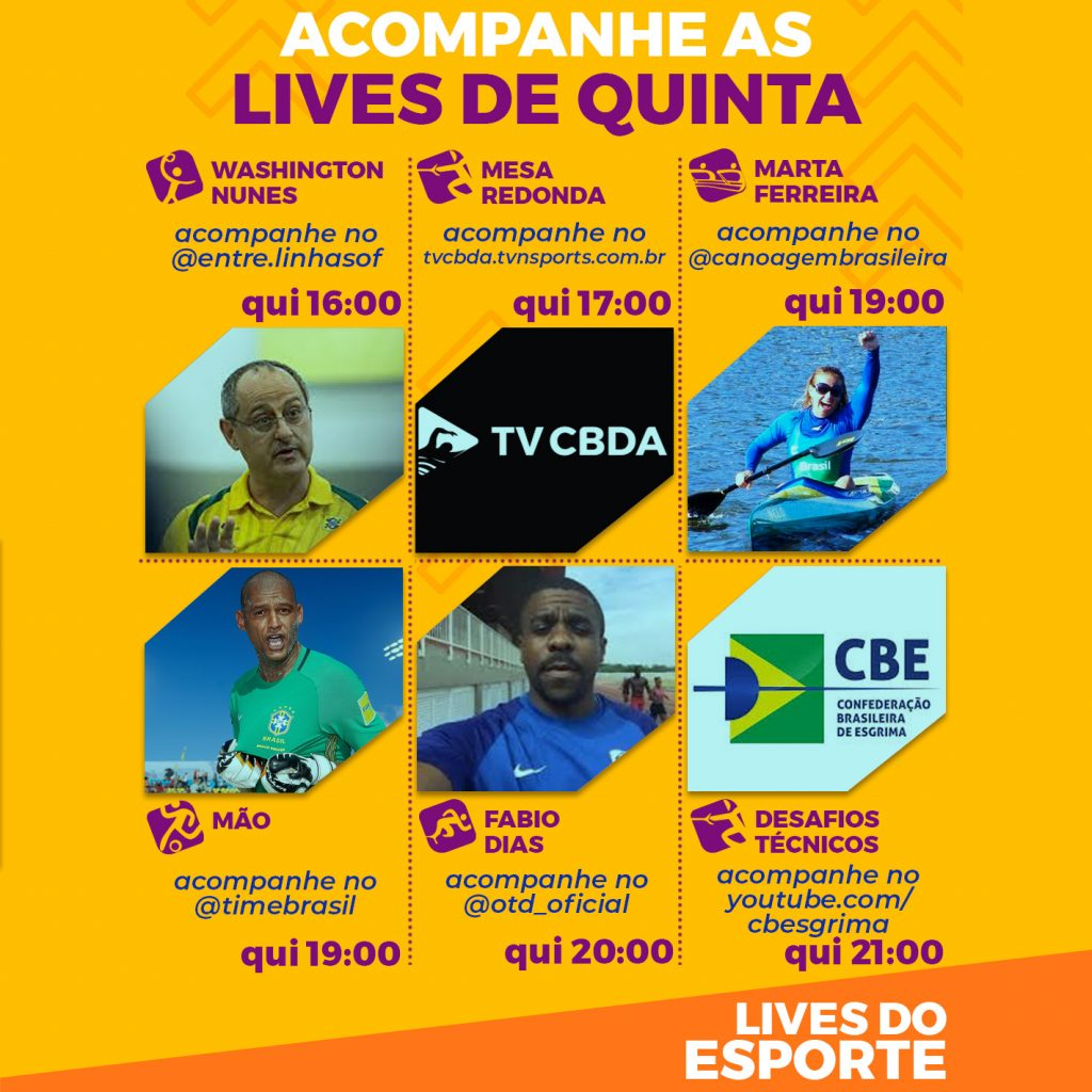 Agenda de lives - Quinta, 27 de agosto