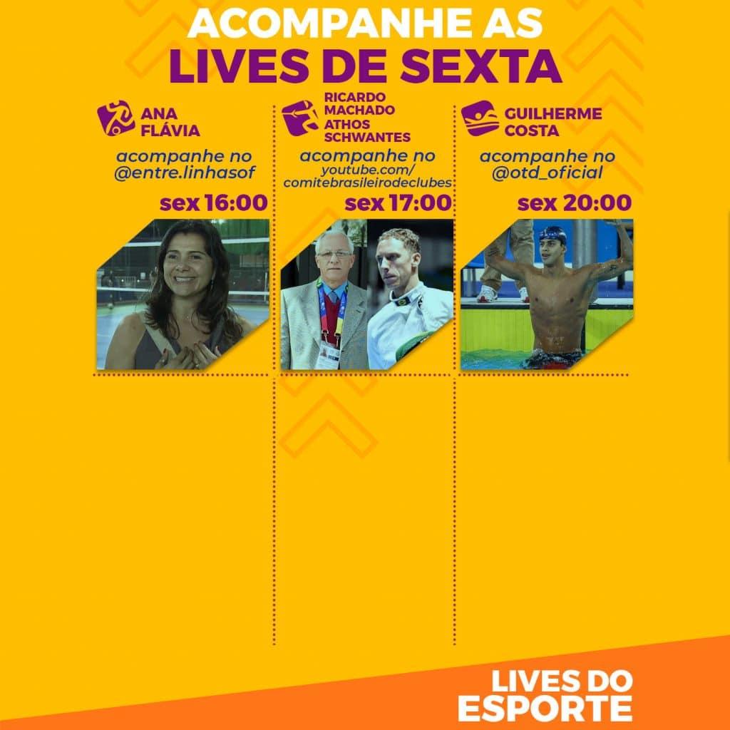 Agenda de lives - Sexta, 28 de agosto
