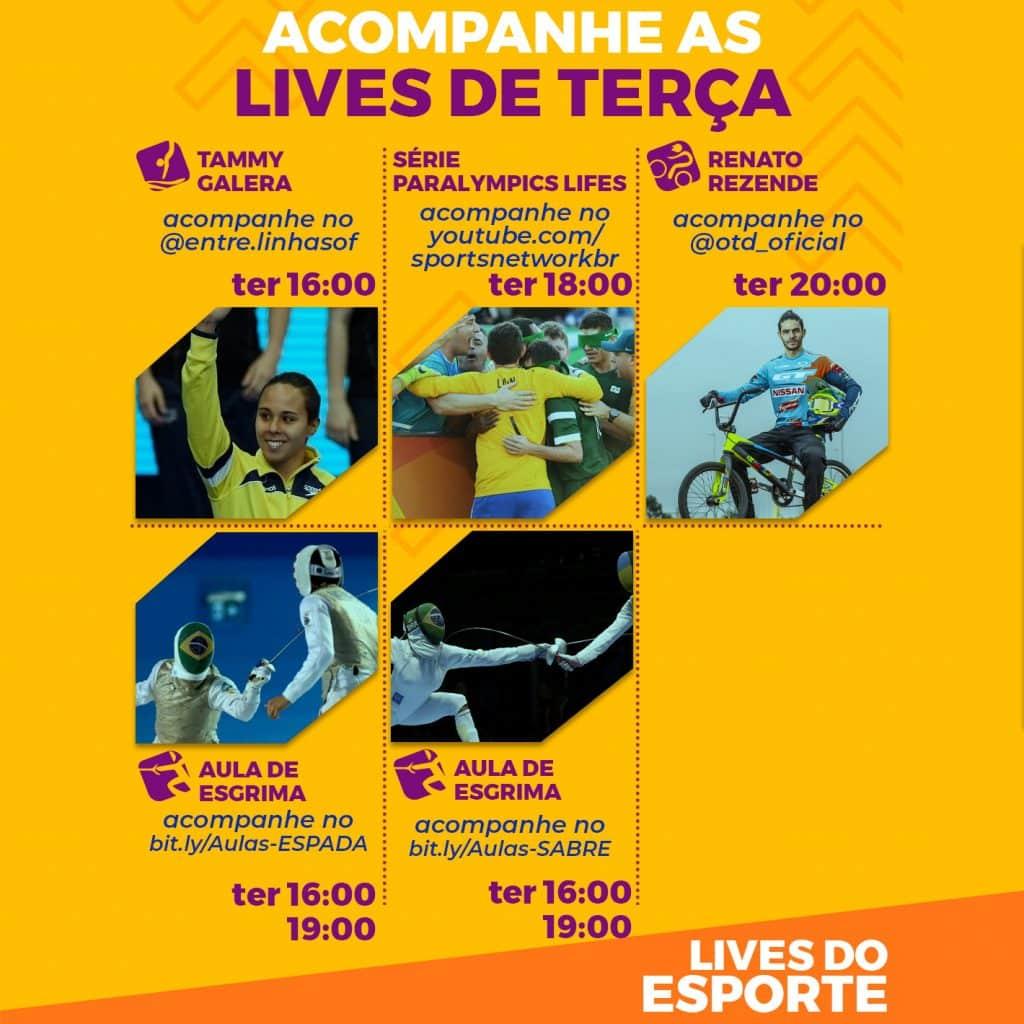 Agenda de lives - Terça, 25 de agosto