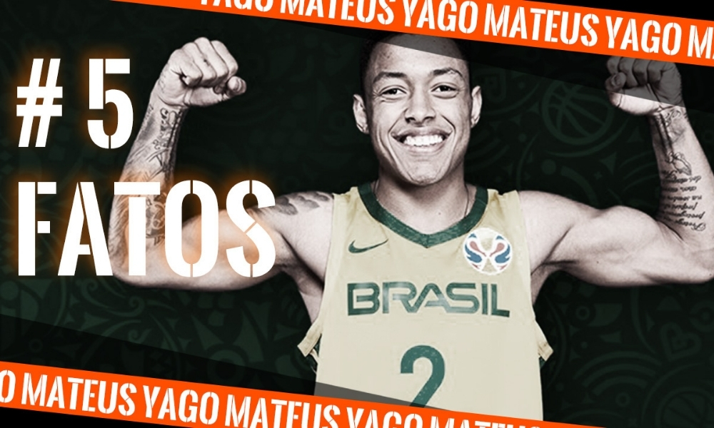 Yago Mateus, do basquete, na arte do quadro 5 fatos (Caio Poltronieri) - curiosidades