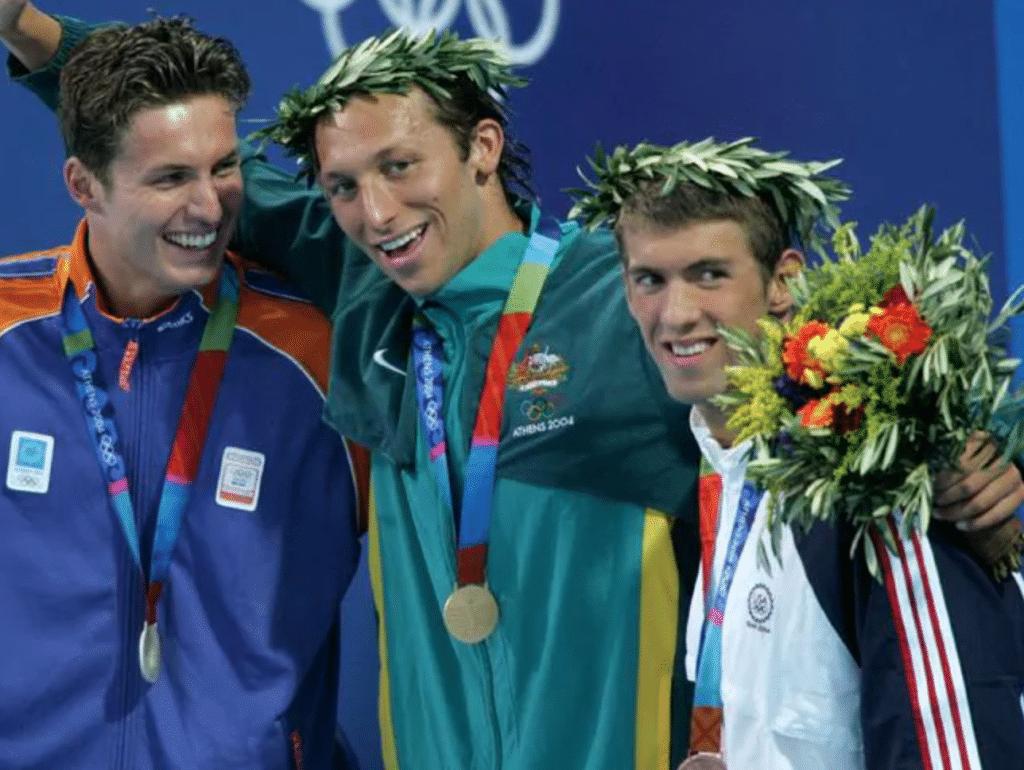 Ian Thorpe venceu Michael Phelps no único confronto individual que tiveram em Jogos Olímpicos (News Limited)