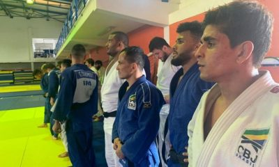Atletas integram a seleção brasileira de judô em Portugal missão europa