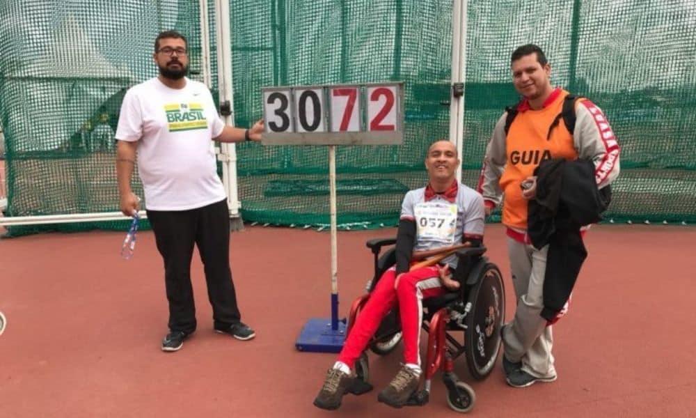 Rafael Mateus lançamento de club Jogos Paralímpicos