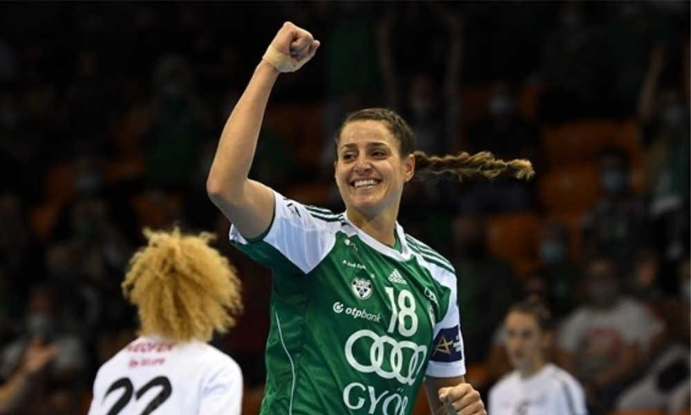 Duda Amorim - Gyori - Champions League de handebol feminino - Jéssica Quintino - Babi Arenhart