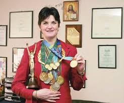 Elisabeta Lipa com todas suas conquistas no remo (Reprodução) - curiosidades e mulheres olímpicas