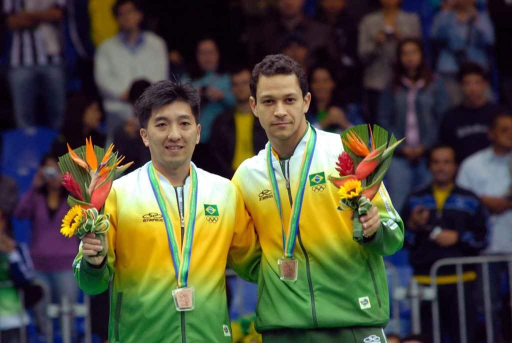 Thiago Monteiro e Hugo Hoyama bronze no Pan de 2007