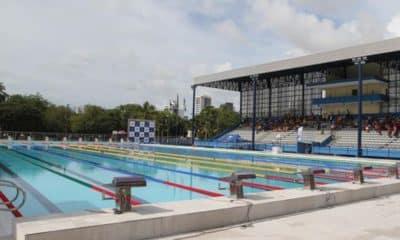 Parque Aquático Santos Dumont Boa Viagem Pernambuco Torneio FAP natação brasileira volta