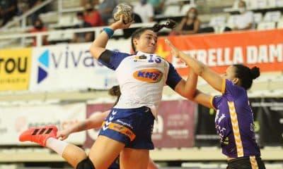 Giulia Guarieiro foi o destaque entre os brasileiros que entraram em quadra nesta sexta-feira handebol
