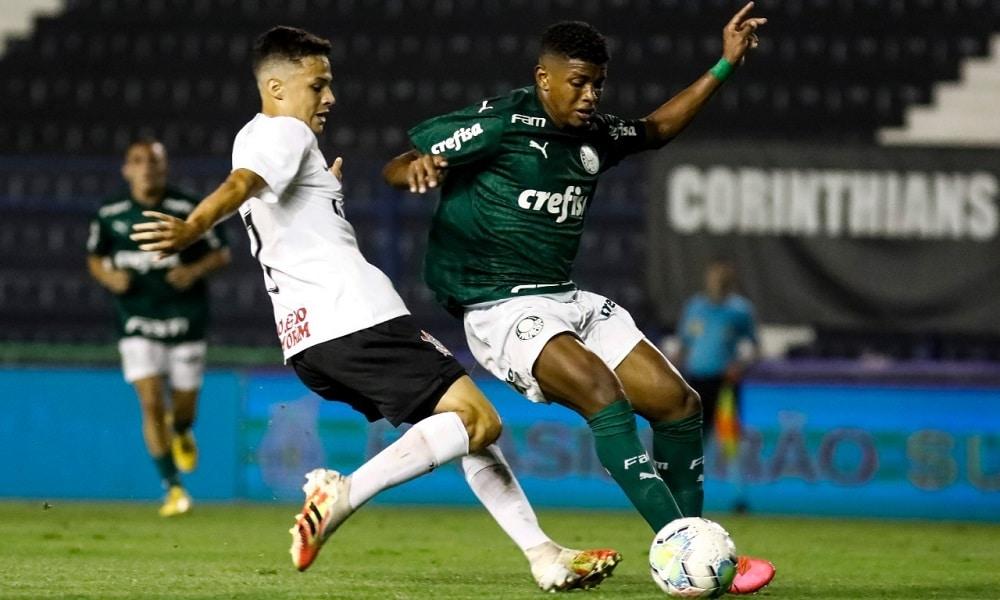 Palmeiras vence o Corinthians pelo placar de 3 a 0 pelo Brasileiro sub-20