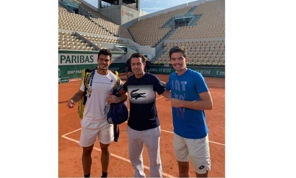 Bruno Oliveira e Natan Rodrigues roland garros duplas juvenil tênis