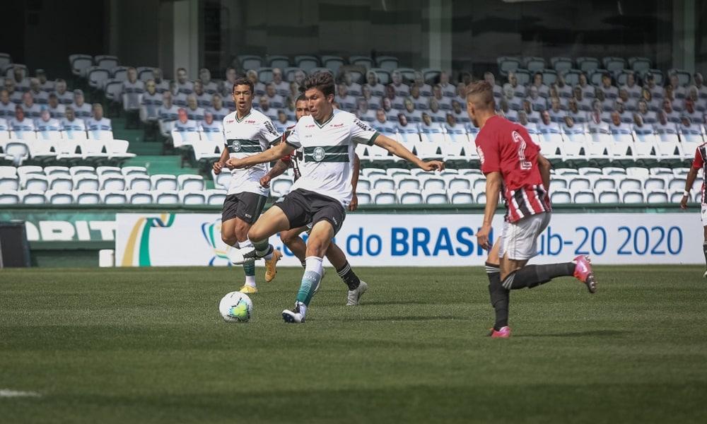 Coritiba e São Paulo empataram em 1 a 1 no jogo de ida Copa do Brasil sub-20 ao vivo