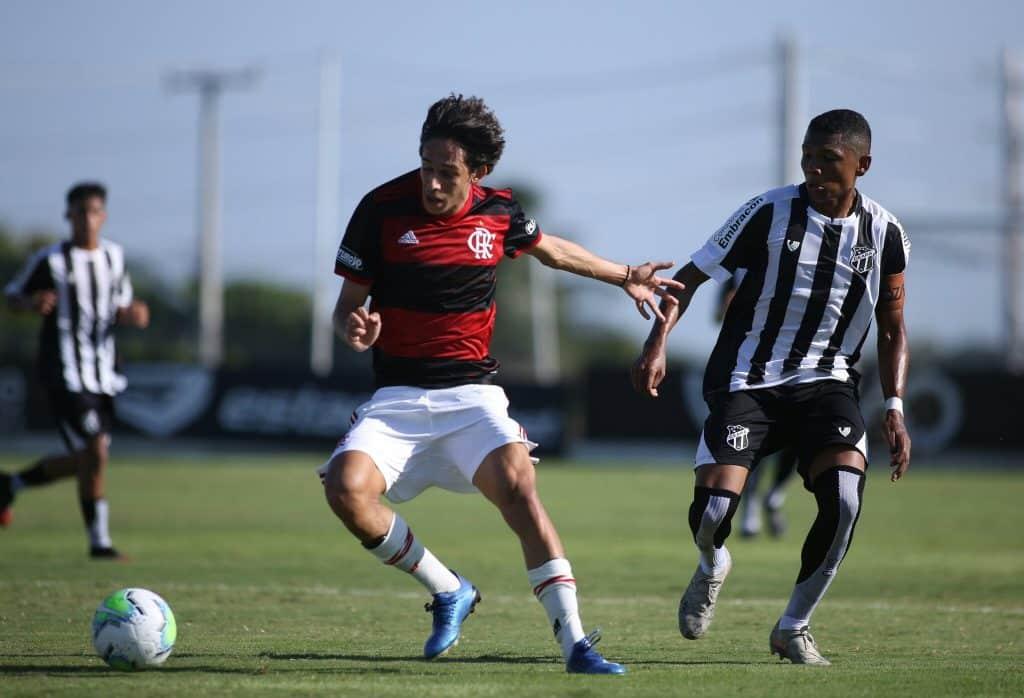 Flamengo e Ceará ficaram no empate em 2 a 2 no Brasileiro sub-17