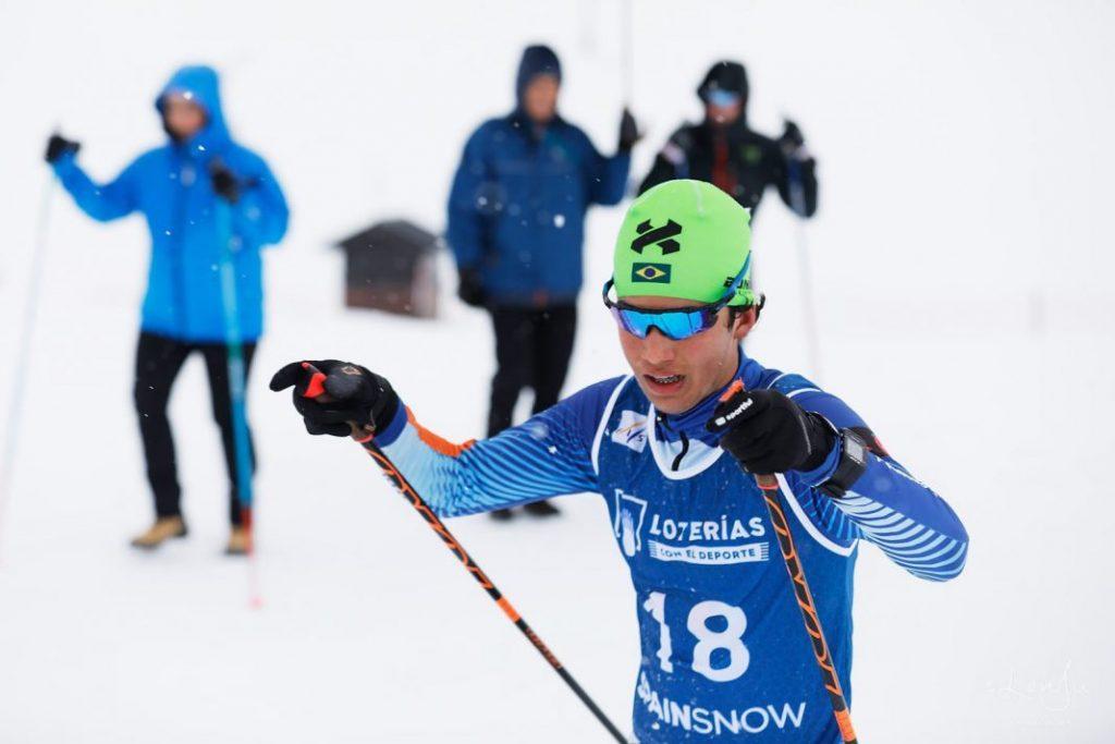 Manex Silva, atleta da equipe brasileira de esqui cross country