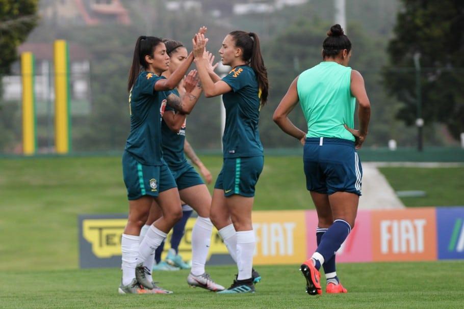 Seleção sub-20 enfrentou o Flamengo em um jogo-treino portugal
