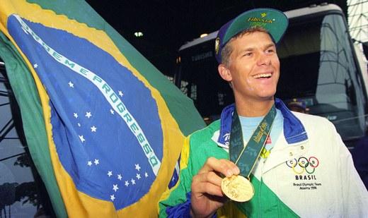 Robert Scheidt derrotou Ben Ainslie e ficou com o ouro em Atlanta-1996