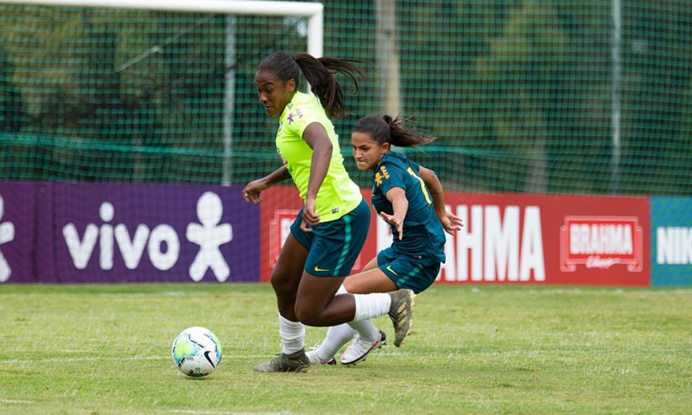 Seleção feminina de futebol portugal jogo-treino