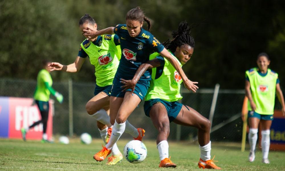seleção feminina de futebol treinos portugal