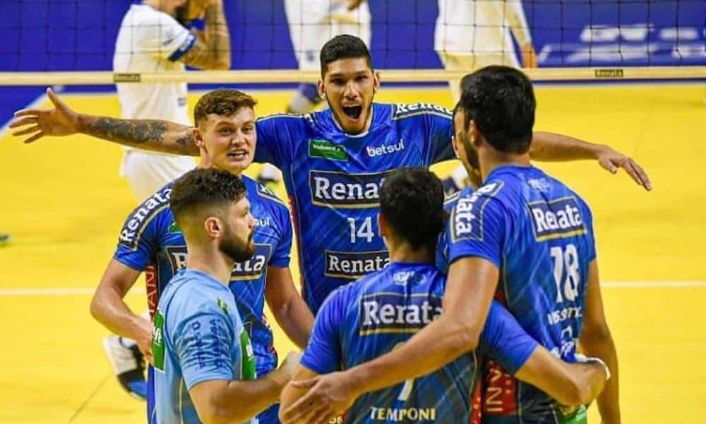 Em um 'jogo de seis pontos' válido pela 5ª rodada da Superliga masculina, o Vôlei Renata se impôs e bateu o Minas Tênis Clube por 3 sets a 0