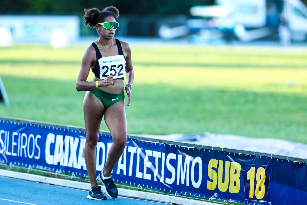 Gabrielly Santos, ouro nos 5 km marcha atlética Campeonato Brasileiro Sub-18 de Atletismo