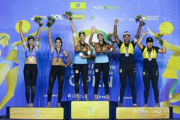 Ágatha e Duda  conquistaram o título da 4ª etapa do Circuito Brasileiro Open de Vôlei de Praia abriram vantagem no ranking sobre  Ana Patrícia e Rebeca
