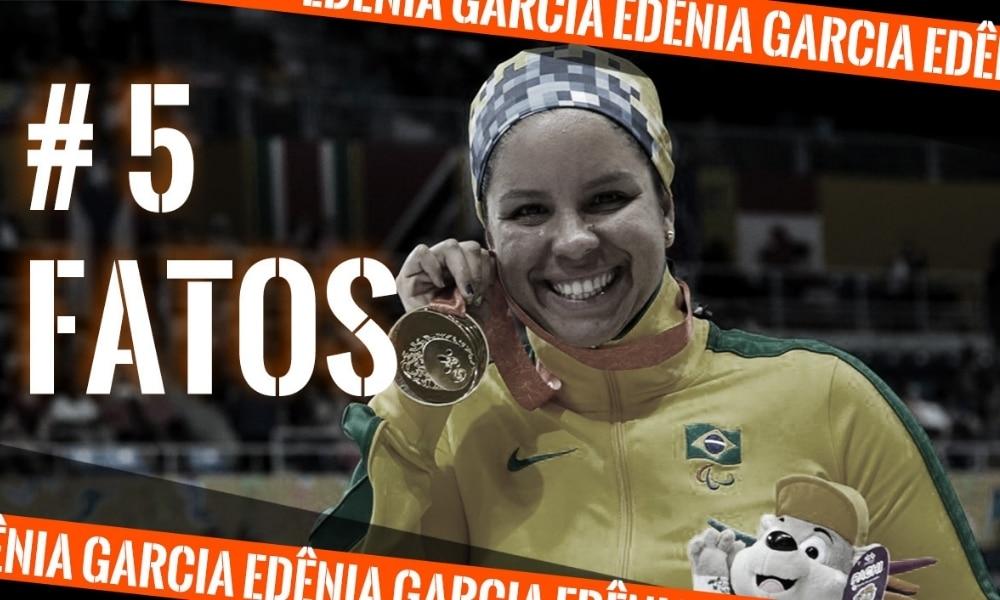 Edênia Garcia, da natação paralímpica, nos Jogos Parapan-Americanos de Toronto 2019 (Arte: Caio Poltronieri) - 5 fatos, curiosidades