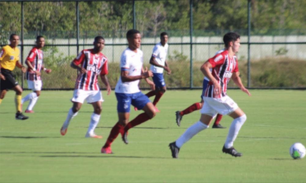 Bahia e São Paulo jogaram pelo Brasileiro Sub-20 e o time paulista ganhou, fora de casa, por 3 a 1 (Rafael Machado/Bahia)