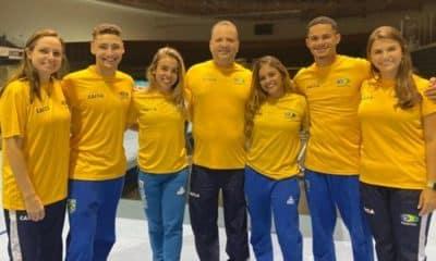 Seleção de ginástica de trampolim - Alice Gomes - Camilla Gomes - Rayan Dutra - Missão Europa