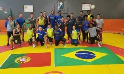 Seleção Brasileira de boxe Missão Europa treino Wrestling