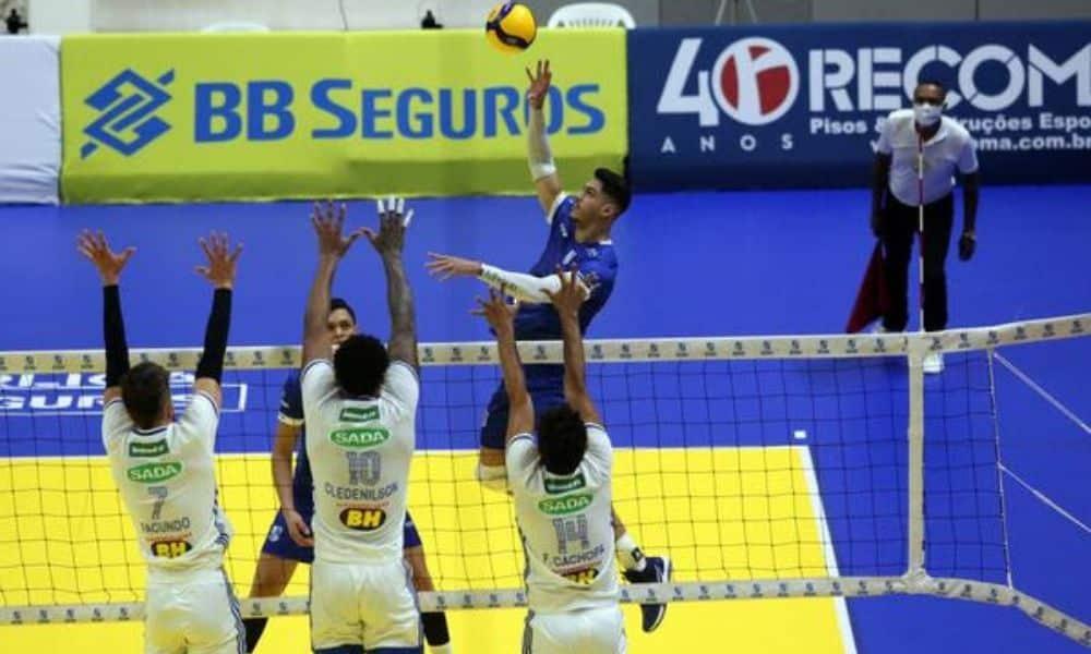 Minas vence Cruzeiro Superliga Masculina
