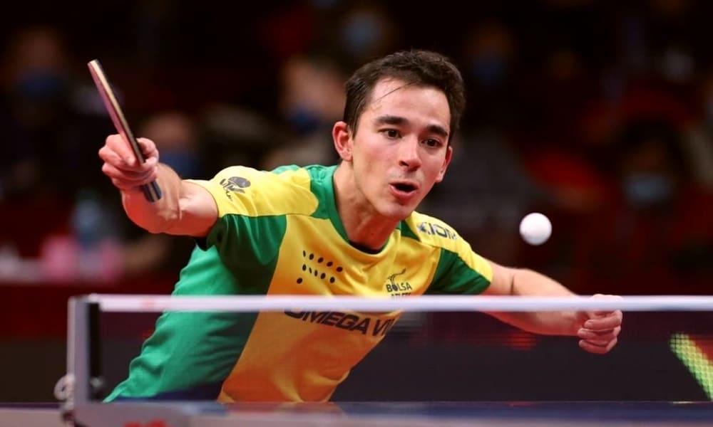 Hugo Calderano - WTT de Macau - tênis de mesa masculino individual equipes Jogos Olímpicos de Tóquio 2020