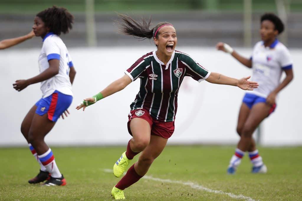 Dois jogos de ida das oitavas de final do Campeonato Brasileiro feminino A-2 ocorreram hoje, com vitórias de Bahia e Fluminense sobre Athletico e Fortaleza