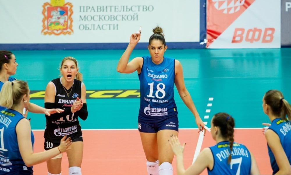 Natália foi o destaque do Dínamo Moscou nesta quarta-feira (11). Sem dificuldades, o time da brasileira bateu o Odintsovo, em casa, por 3 sets a 0, parciais de 25/11, 25/19 e 25/14, em 1h04min. O triunfo fez o clube da ponteira chegar aos 23 pontos e à vice-liderança da Liga Russa de vôlei feminino, com oito êxitos e um revés, atrás apenas do Dínamo Kazan, primeiro com um jogo a mais e 26 pontos: nove vitórias e uma derrota.