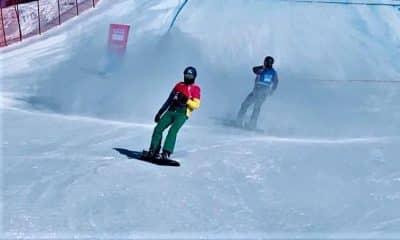 Snowboard brasileiro participou dos Jogos da Juventude de Inverno de 2020 com Noah Bethonico