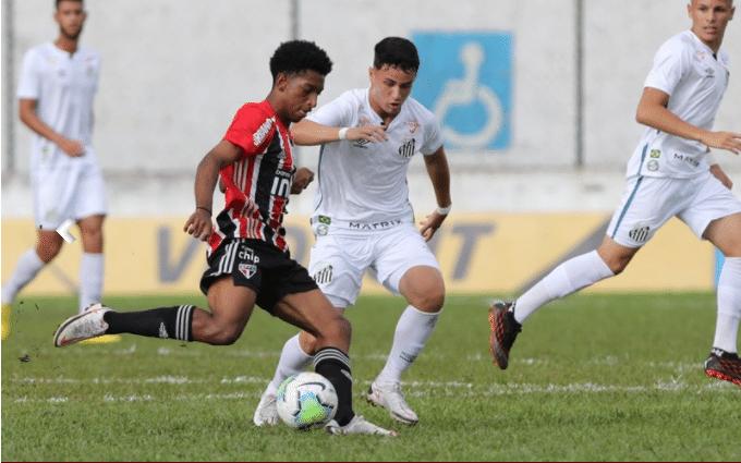 São Paulo goleia o Santos por 5 a 1 no Brasileiro sub-20