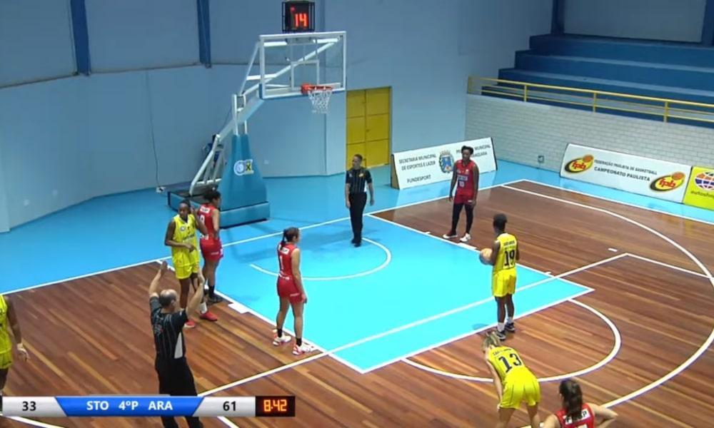 Santo André e Sesi Araraquara jogaram no ABC Paulista (Reprodução/GCS TV)