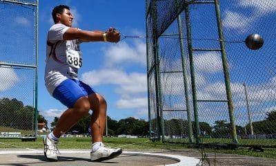Bryan Barrios lançamento do martelo campeonato brasileiro sub-18 de atletismo