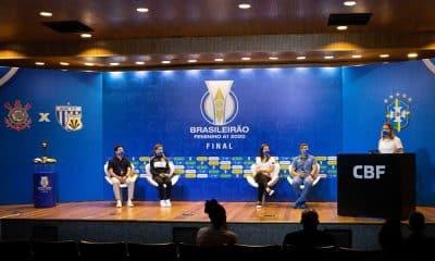Coletiva técnicos final do brasileiro de futebol feminino