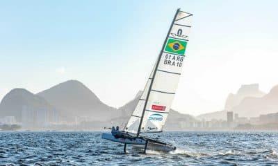 Dupla olímpica da Vela, Samuel Albrecht e Gabriela Nicolino em preparação para a Copa Brasil