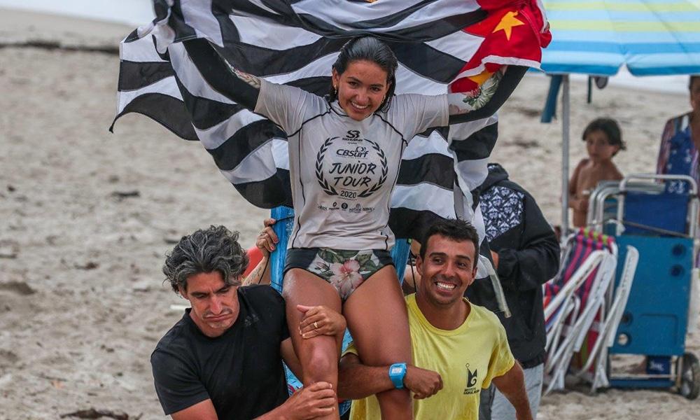 Sophia Medina surfe circuito brasileiro de surfe de base CBSurf Júnior Tour