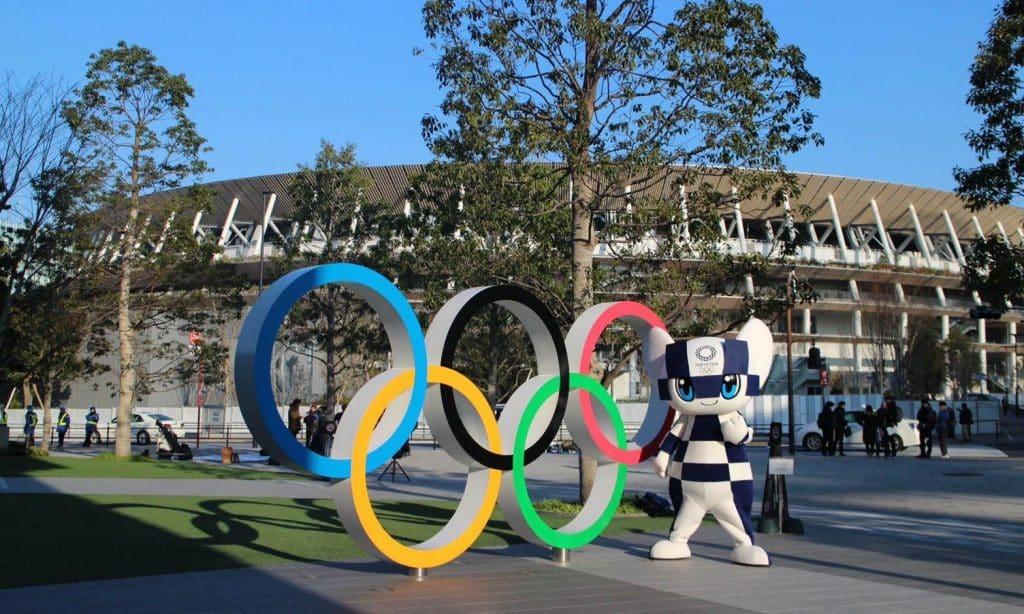 Tóquio 2020 Tóquio-2020 Jogos Olímpicos de Tóquio Olimpíada de Tóquio Estádio Olímpico Anéis Olímpicos covid-19