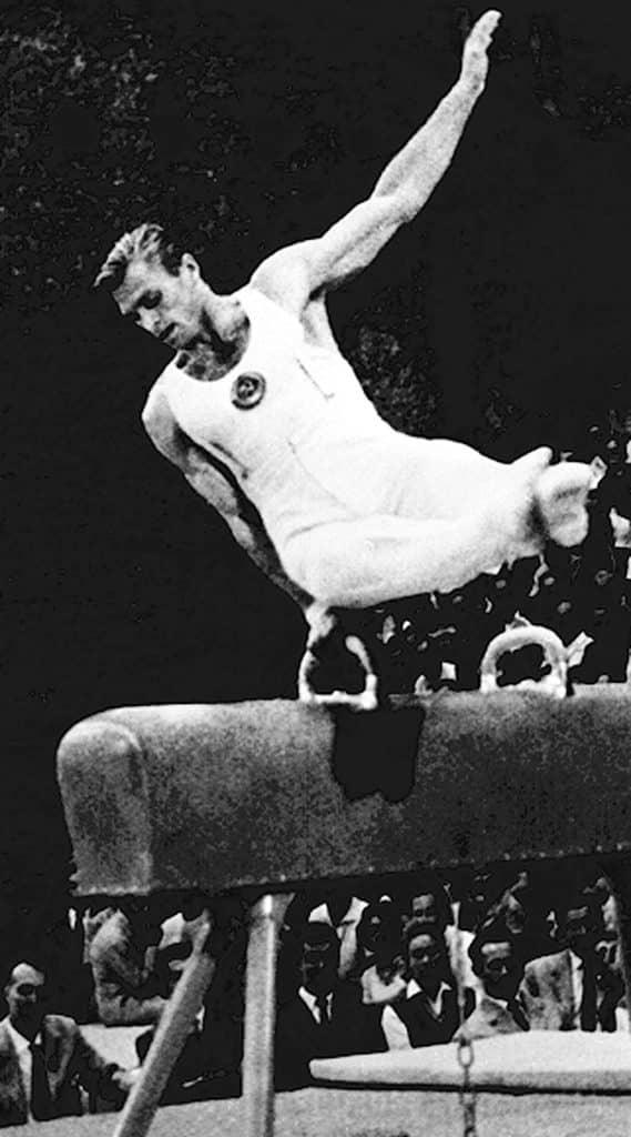 Borys Shakhlin história do cavalo com alças nos jogos olímpicos