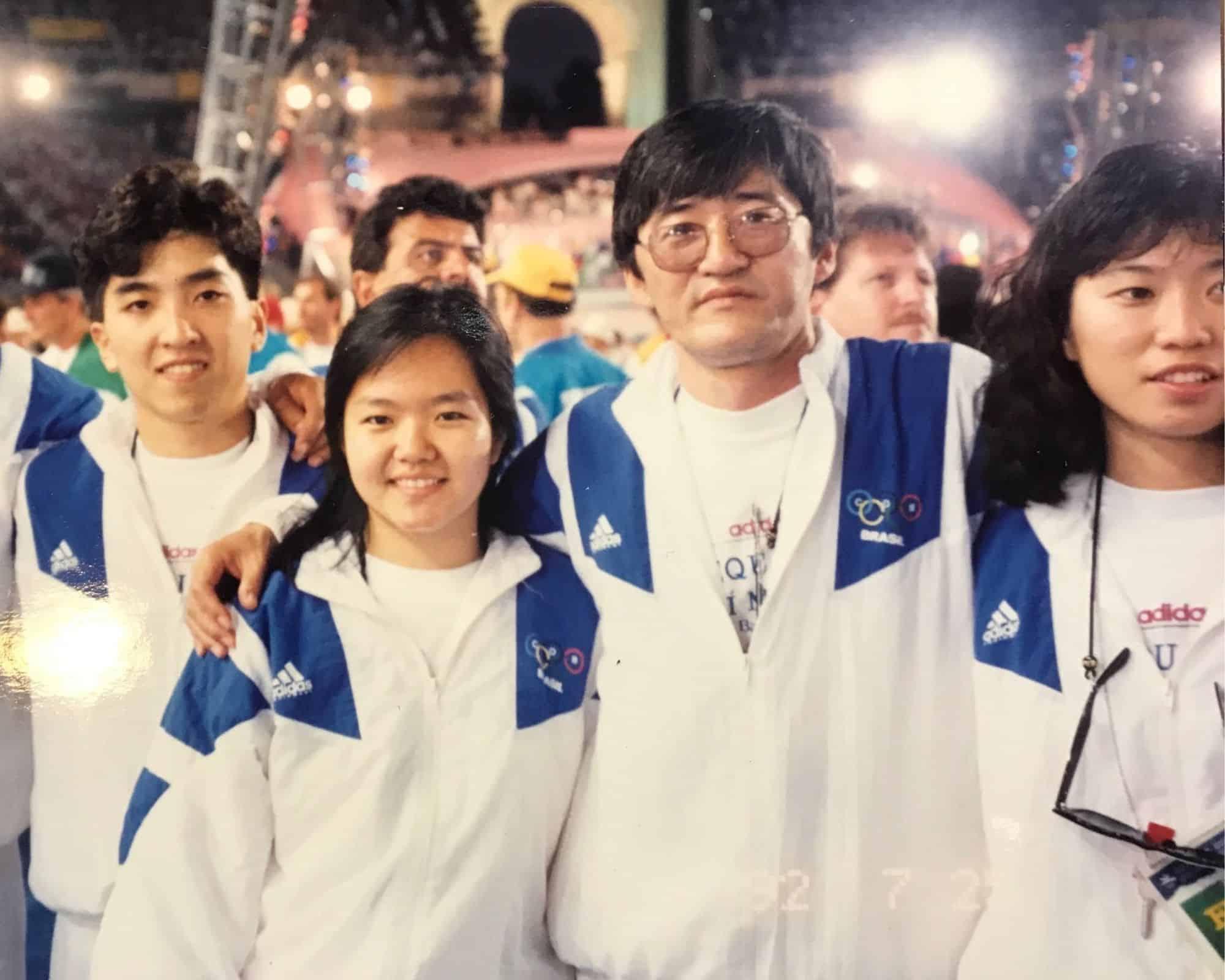 Equipe tênis de mesa em Barcelona-1992