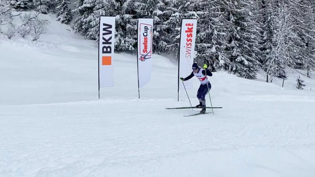 Manex Silva compete pelo Brasil no esqui cross country
