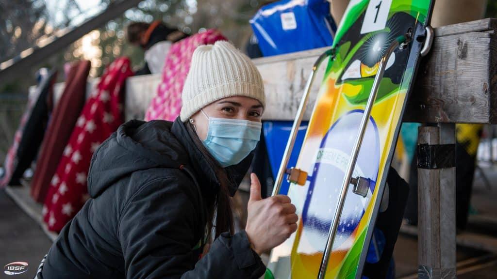 Nicole Silveira mostra evolução na caminhada pela vaga olímpica no skeleton