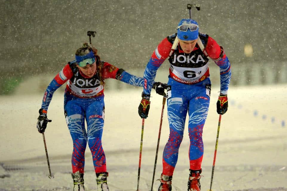 Dupla russa campeã do World Team Challenge de Biatlo 2020