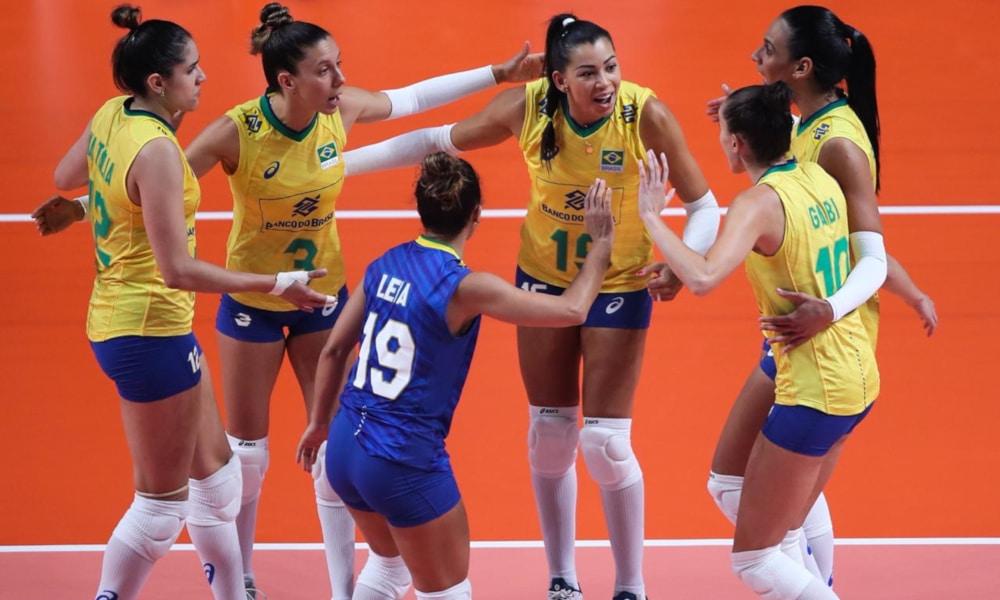 Brasil lidera o ranking da FIVB de 2020 no masculino e é o terceiro no feminino (FIVB/Divulgação)