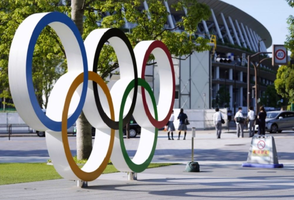Tóquio-2020 Estádio Olímpico anéis olímpicos