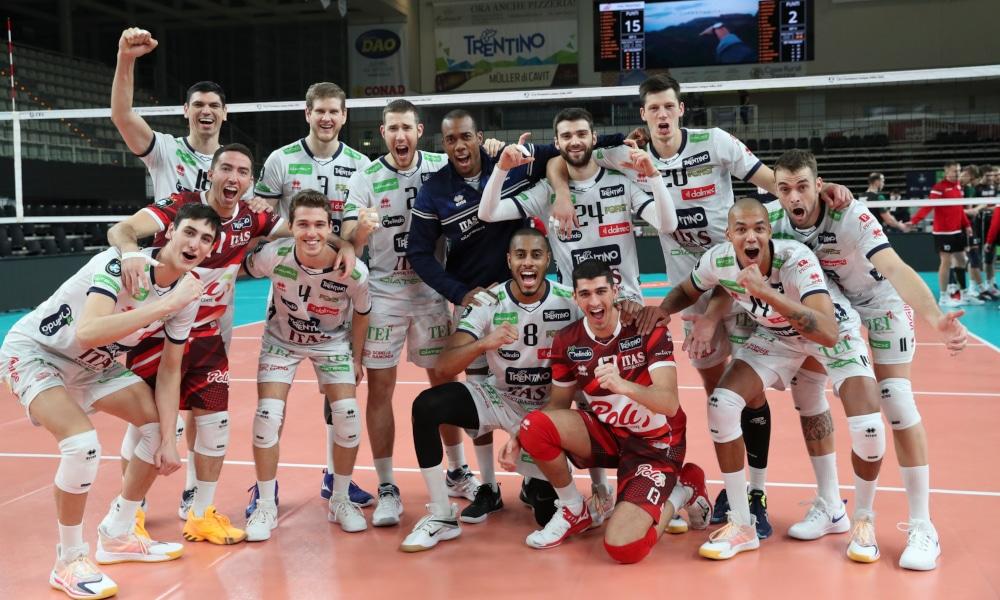 O Trentino, time do brasileiro Lucarelli, venceu na estreia da Champions League (CEV/Divulgação)