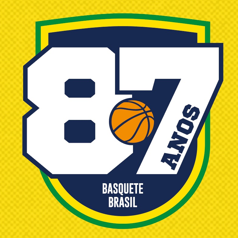 CBB aniversário 87 anos selo Confederação Brasileira de Basketball basquete